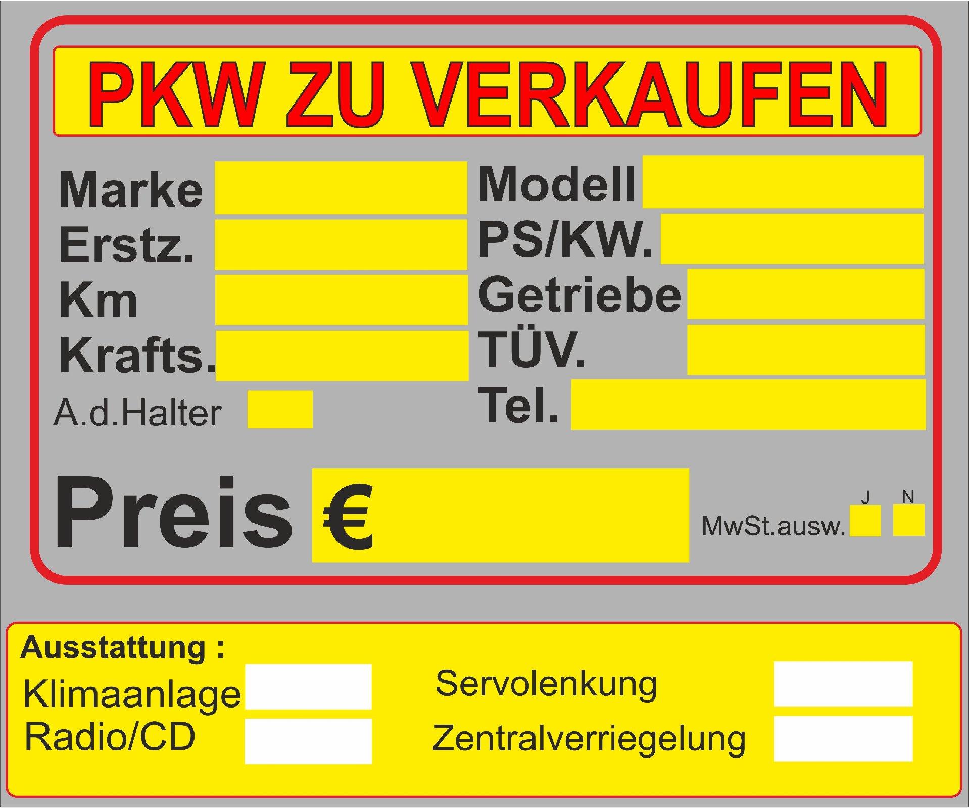 Großartig Zum Verkauf Auto Vorlage Fotos - Beispiel Business ...
