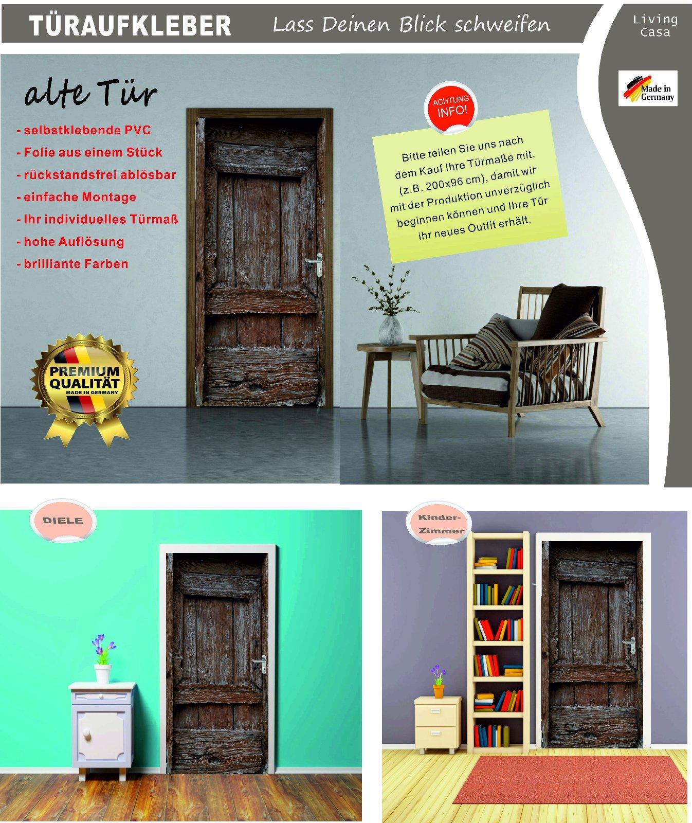 t rposter alte holzt r t raufkleber t rfolie t rtapete selbstklebend nr 22 ebay. Black Bedroom Furniture Sets. Home Design Ideas