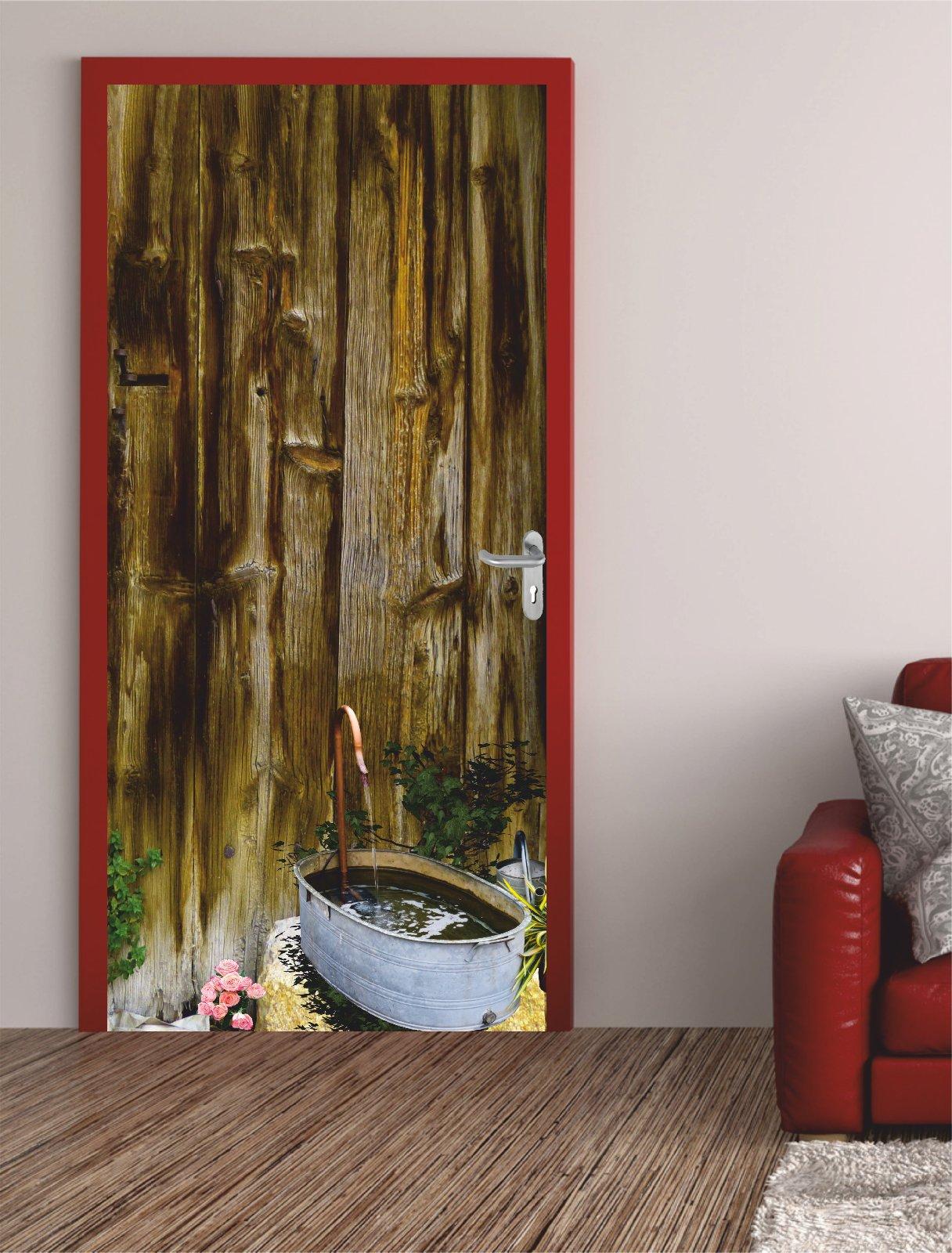 t rposter alte holzt r t raufkleber t rfolie t rtapete antik wood 423tp ebay. Black Bedroom Furniture Sets. Home Design Ideas