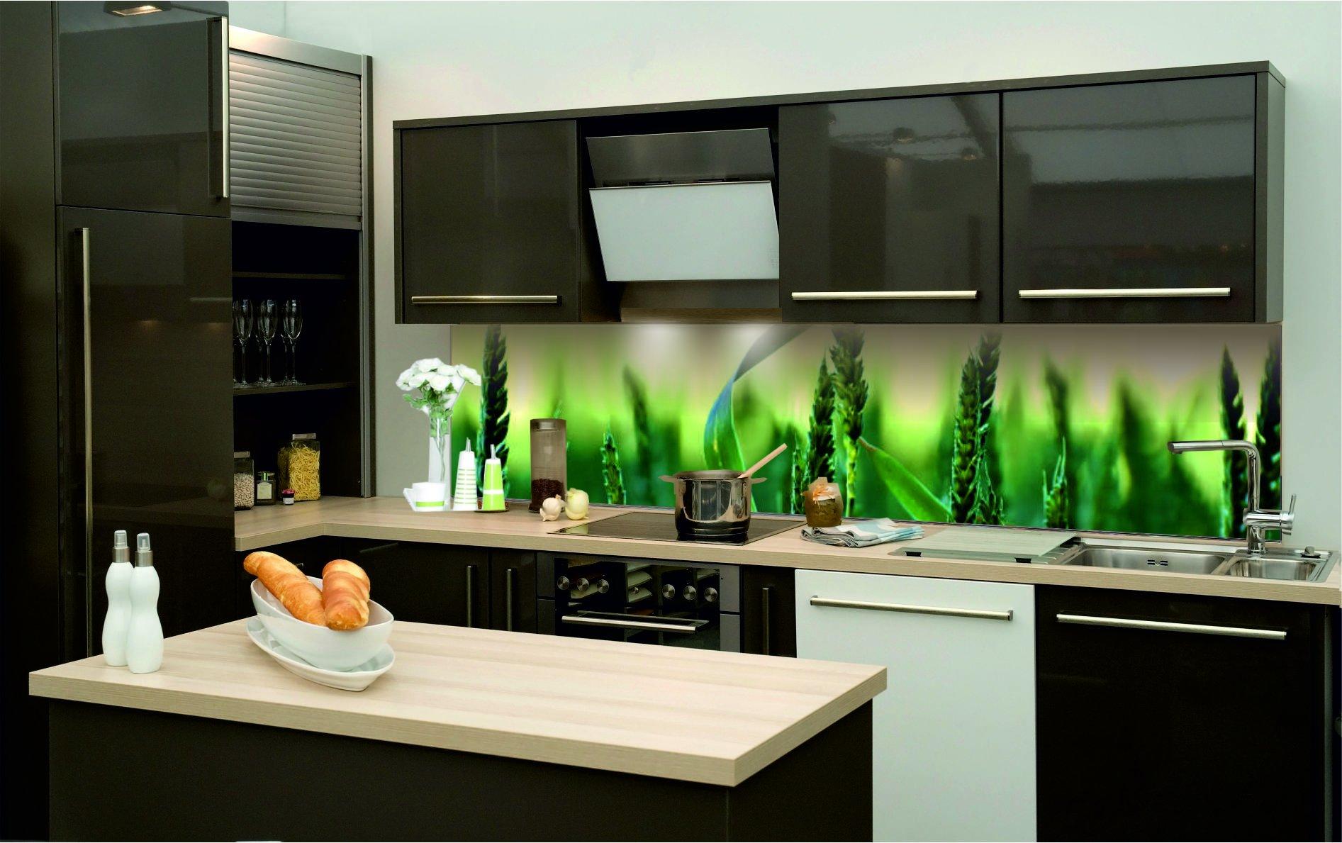 k chenr ckwand folie selbstklebend klebefolie landschaft natur getreide kfs65 ebay. Black Bedroom Furniture Sets. Home Design Ideas