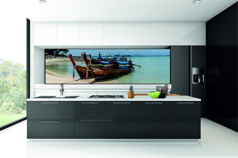 k chenr ckwand spritzschutz k che fliesenspiegel boot wasser kfs4 selbstklebend ebay. Black Bedroom Furniture Sets. Home Design Ideas
