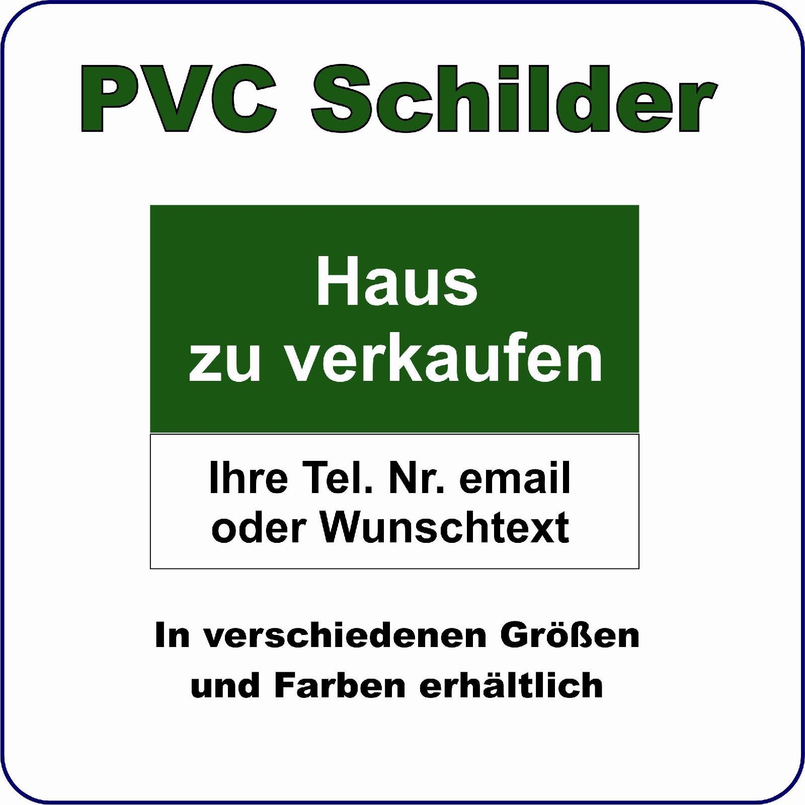 """SCHILD Wetterfest """"Haus Zu Verkaufen"""" PVC Plane 84 X 59,4"""
