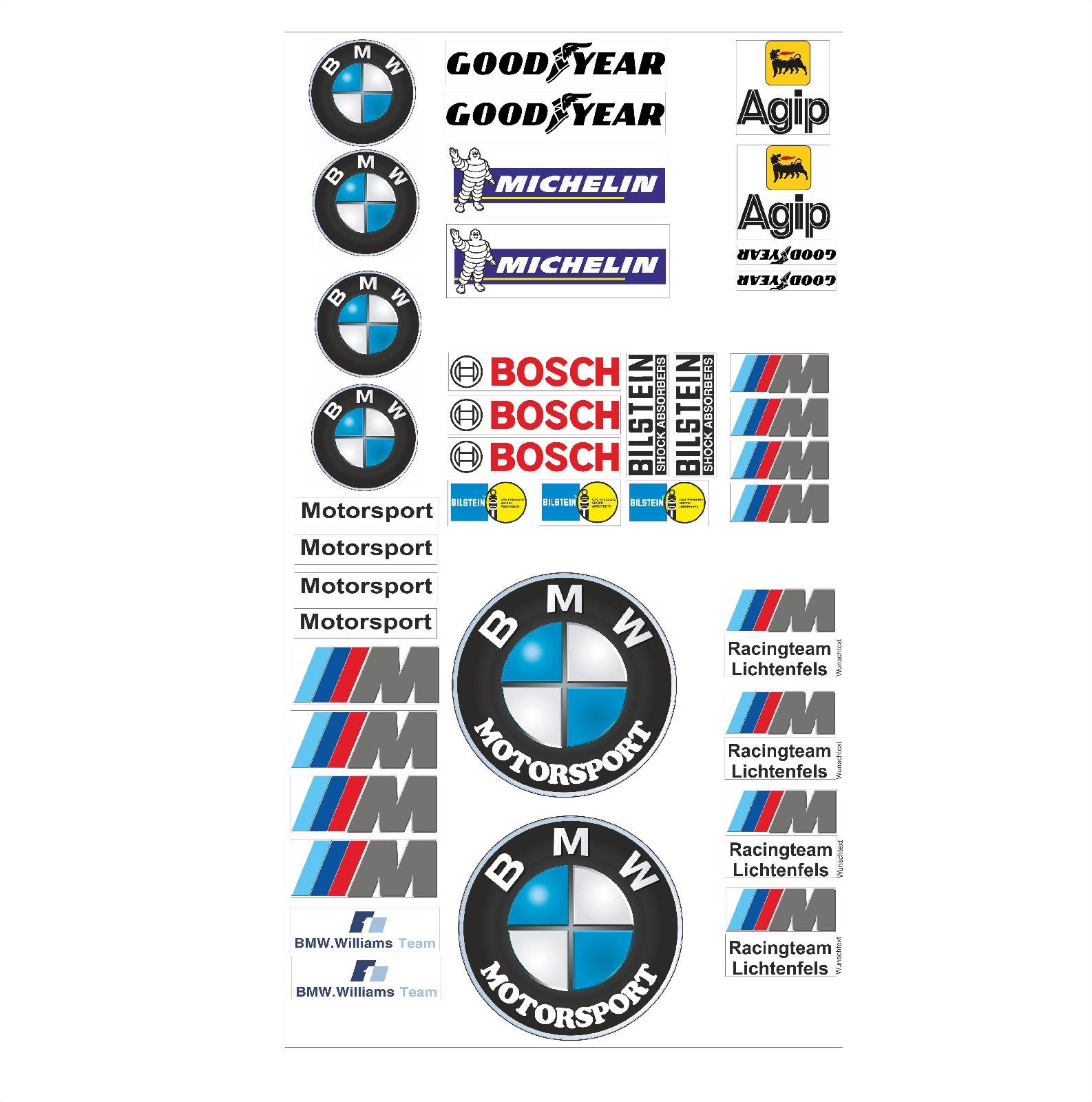 Bmw Logo Autoaufkleber Sponsoren Marken Aufkleber Decals Tuning Sticker Set Ebay