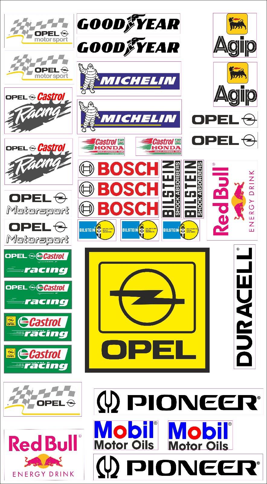 Details Zu Opel Logo Autoaufkleber Sponsoren Marken Aufkleber Decals Tuning