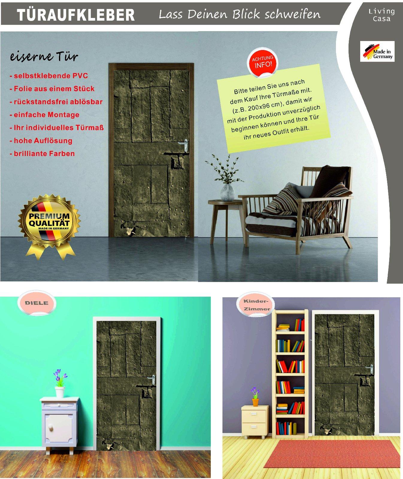 t rposter eiserne t r t raufkleber t rfolie t rtapete selbstklebend nr 23 ebay. Black Bedroom Furniture Sets. Home Design Ideas