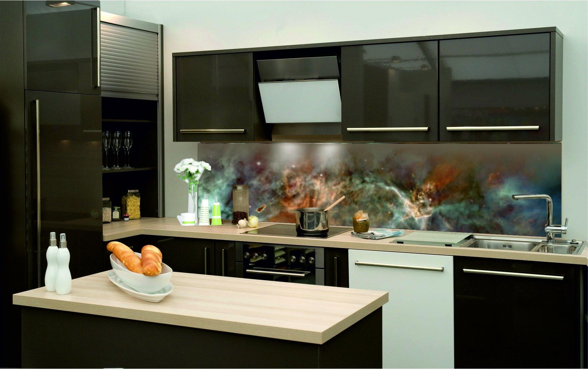 k chenr ckwand hart pvc selbstklebend universum kfs37 ebay. Black Bedroom Furniture Sets. Home Design Ideas