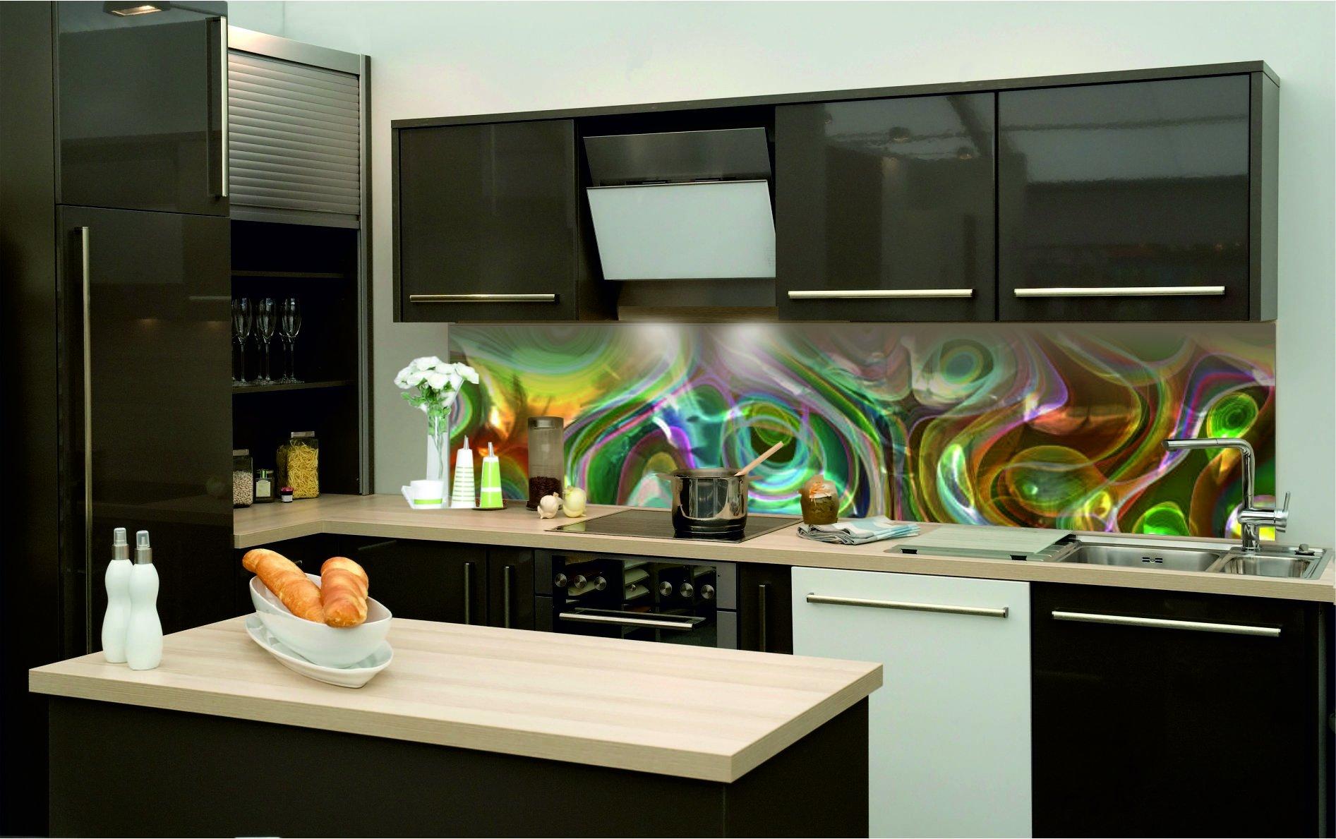 Details zu KÜCHENRÜCKWAND Hart PVC selbstklebend Klebefolie Küche
