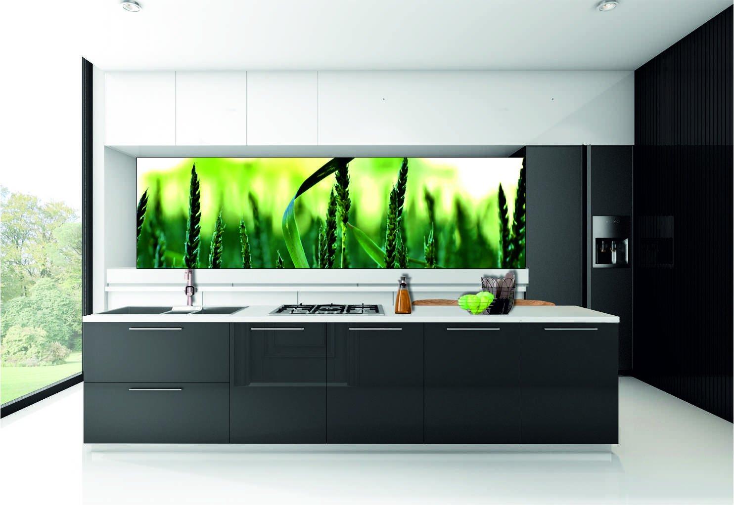 KÜCHENRÜCKWAND Folie selbstklebend Klebefolie  Landschaft Natur Getreide KFS65